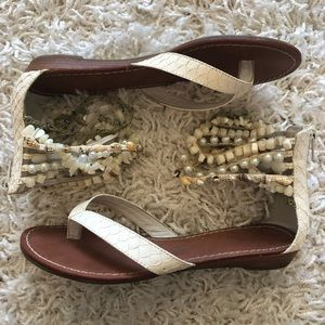 Fun Beaded Ankle Strap Sandals